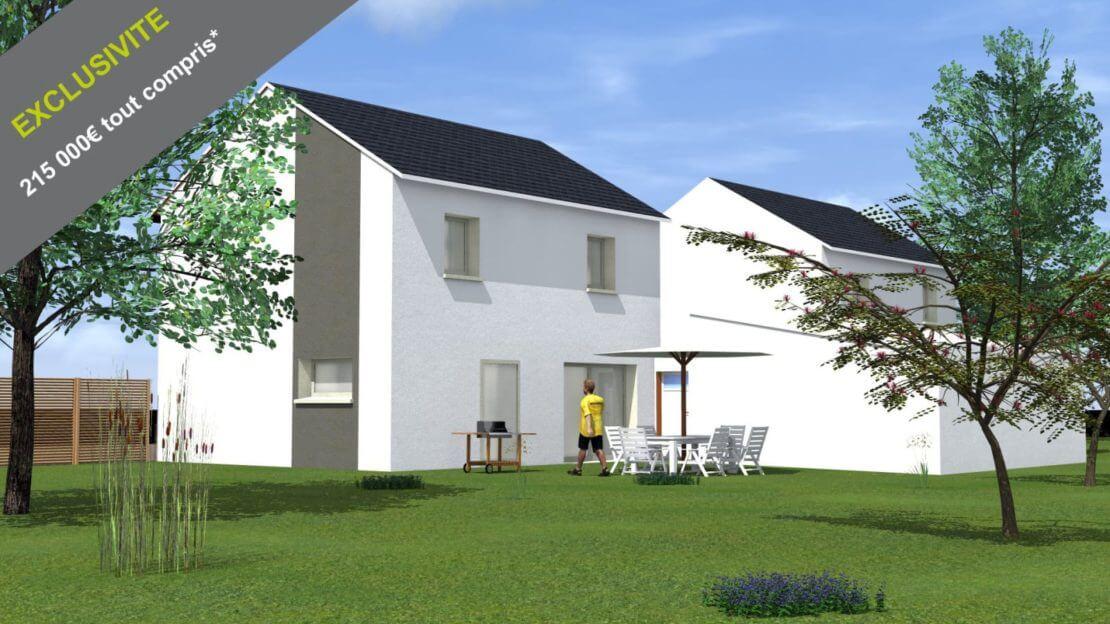 Construction neuve à Beaune, plans sur 2 niveaux avec jardin privatif