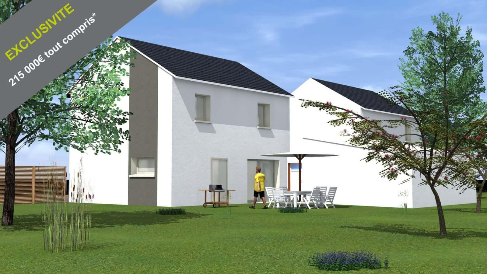 Construction neuve beaune plans sur 2 niveaux avec for Jardin 2 niveaux