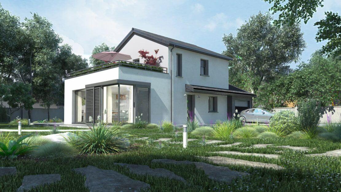 Modèle de maison individuelle contemporaine