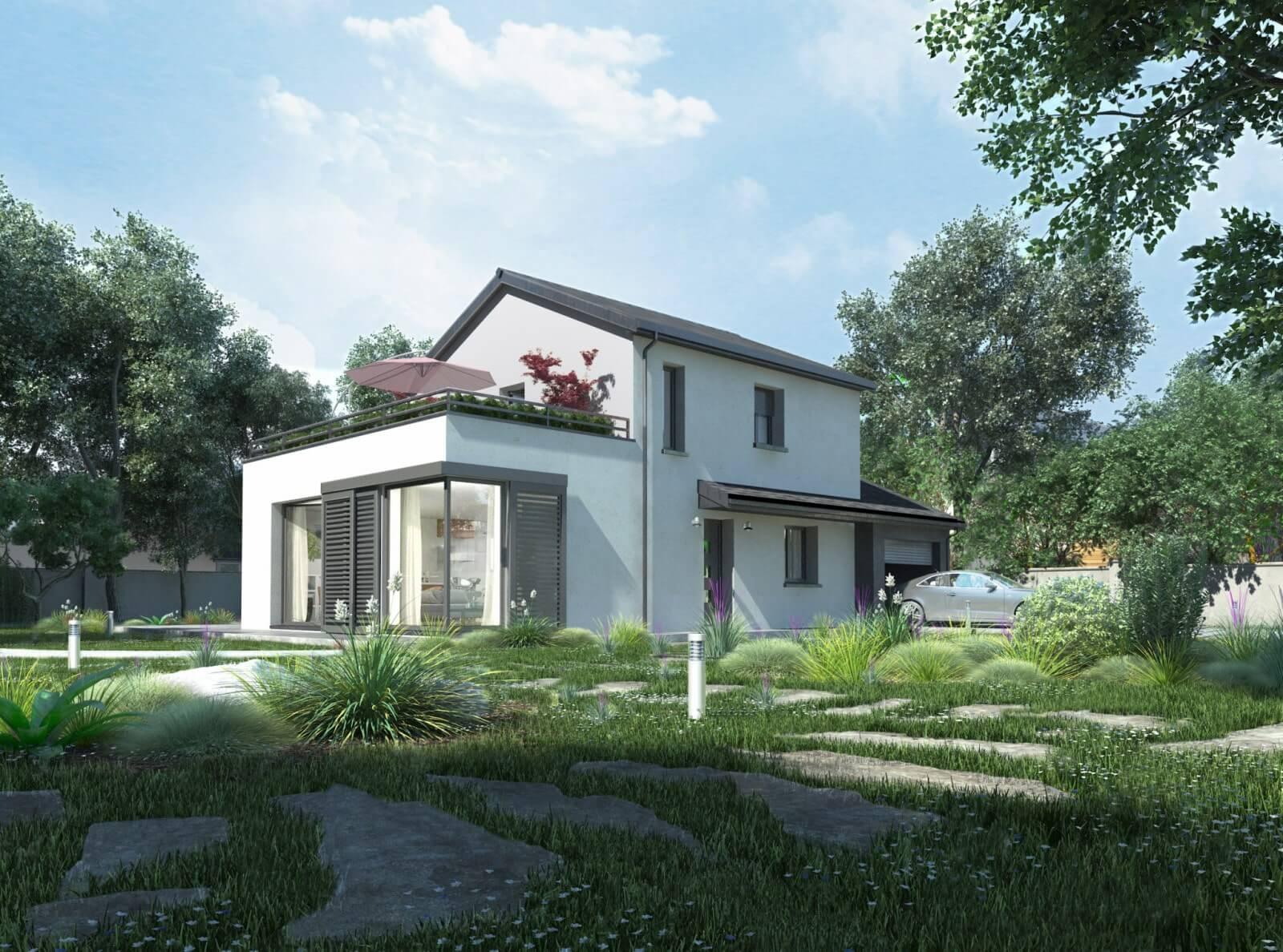 Modèle de construction de maison moderne