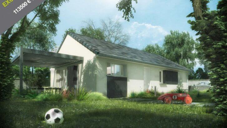Maison neuve de plain pied en côte d'or