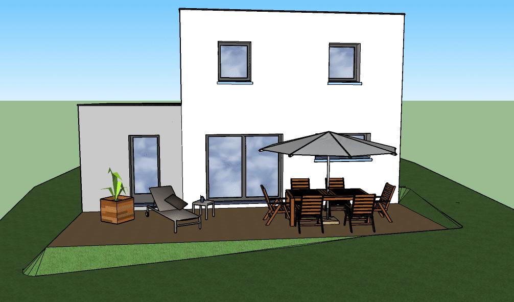 Plans modèle Maison Contemporaine en toit terrasse