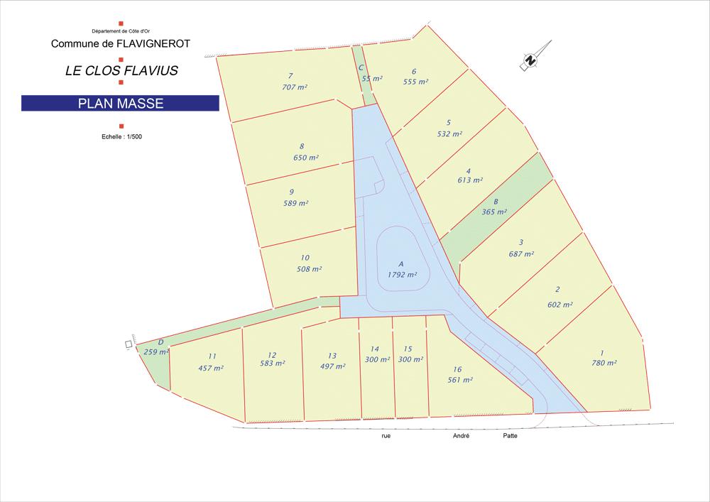 Terrains constructibles proche Dijon, dans un lotissement à Flavignerot 21160 dans un cadre de verdure