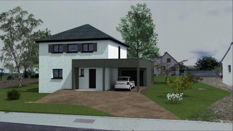 maison toit terrasse dijon esyom constructeur immobilier. Black Bedroom Furniture Sets. Home Design Ideas