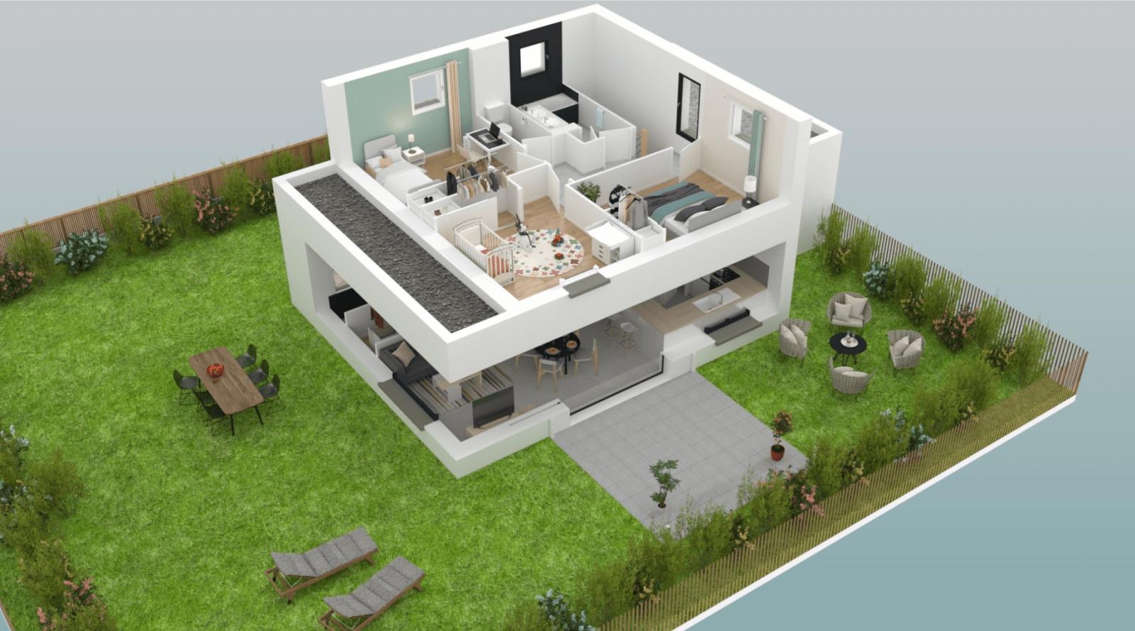 maison individuelle moderne libra construction de maison neuve. Black Bedroom Furniture Sets. Home Design Ideas