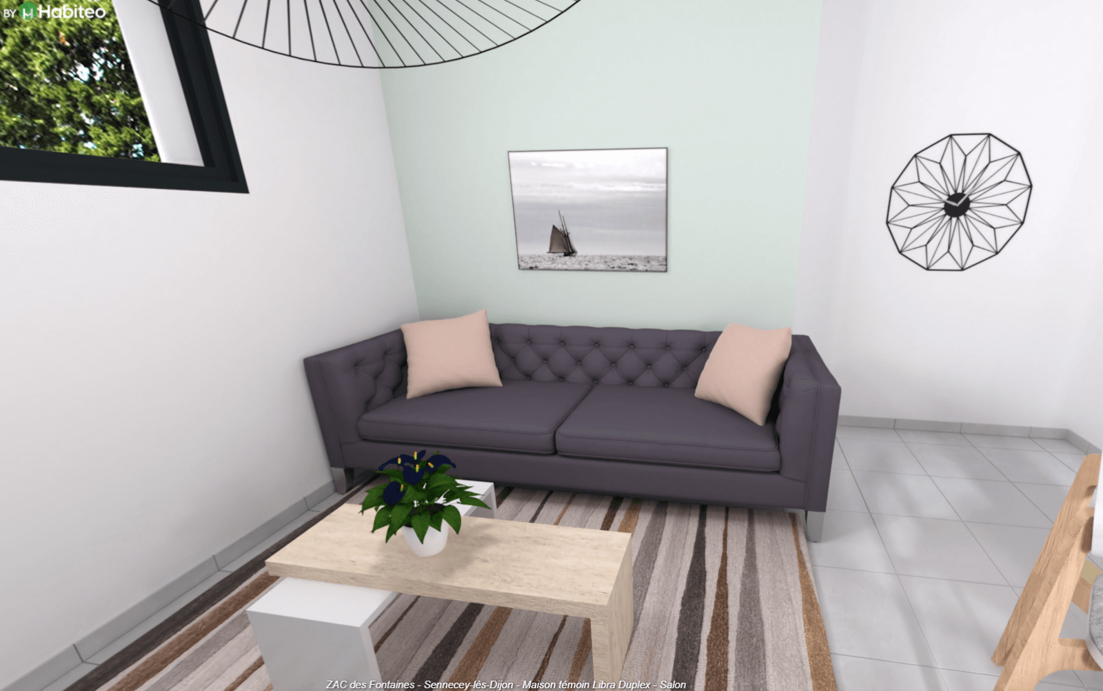 Salon maison contemporaine Dijon