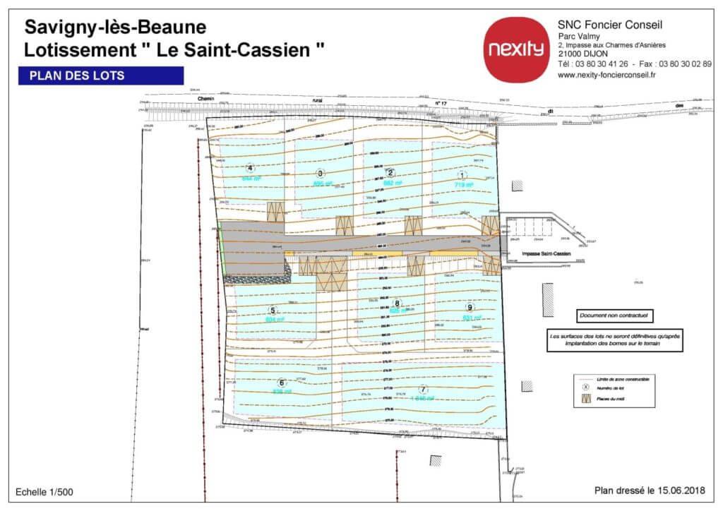 Plan de masse - terrains à Commune de Savigny-lès-Beaune