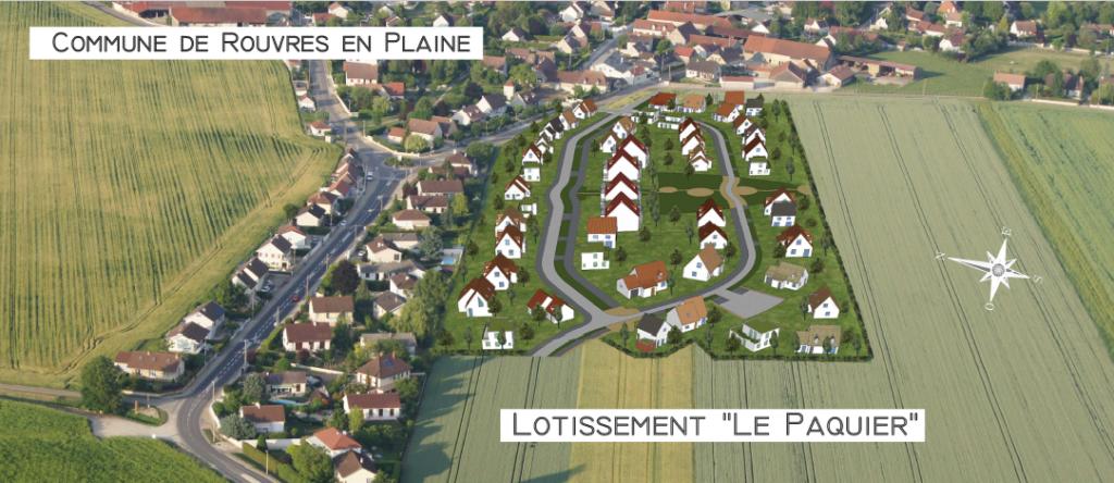 Plan Rouvres en Plaine avec maisons