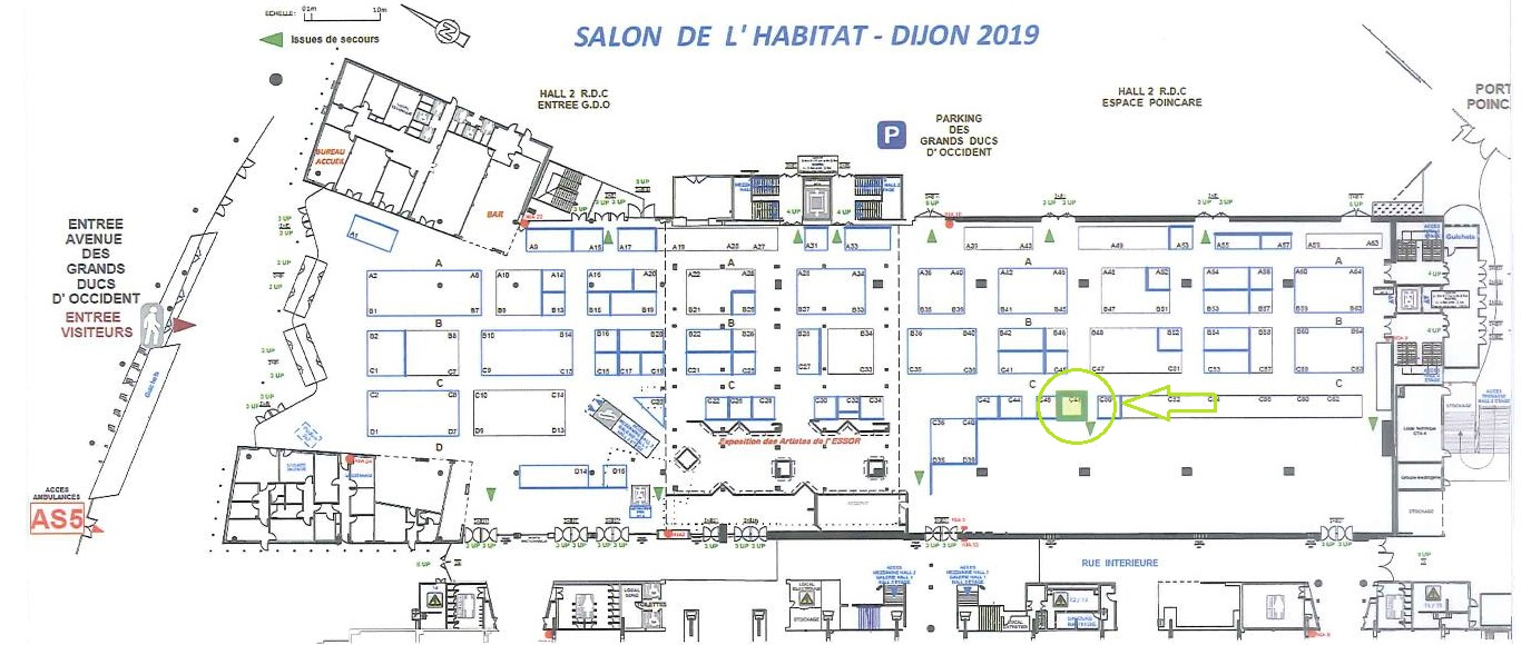 Plan salon de l'habitat