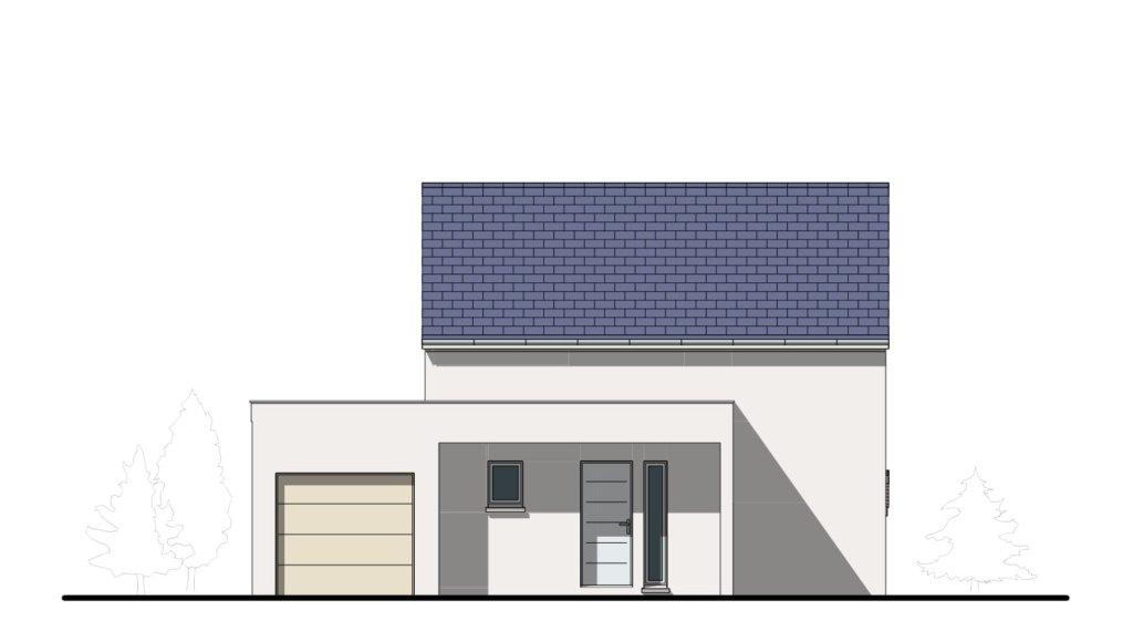"""Facade 1 - Maison Moderne en demi-niveau """"Venus"""""""