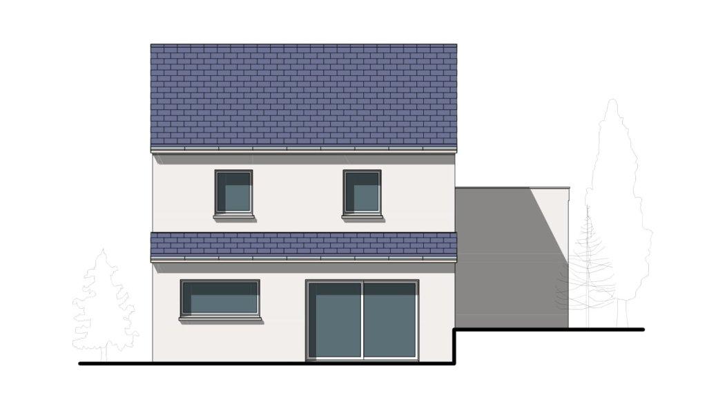 """facade 2 - Maison Moderne en demi-niveau """"Venus"""""""