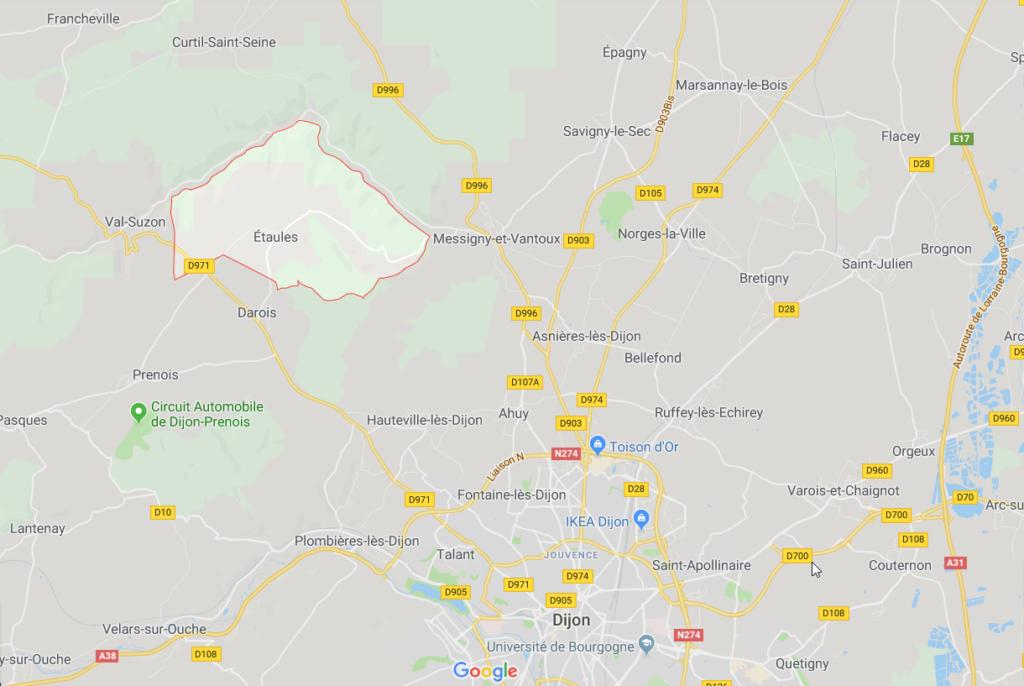 Etaules Google Map