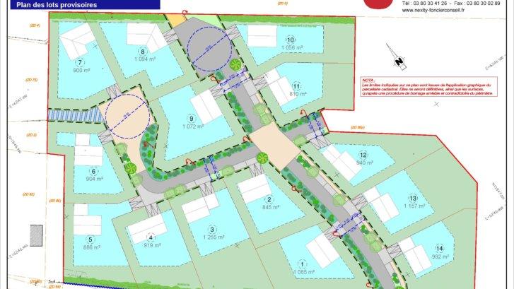 Plan des lots général provisoire Etaule