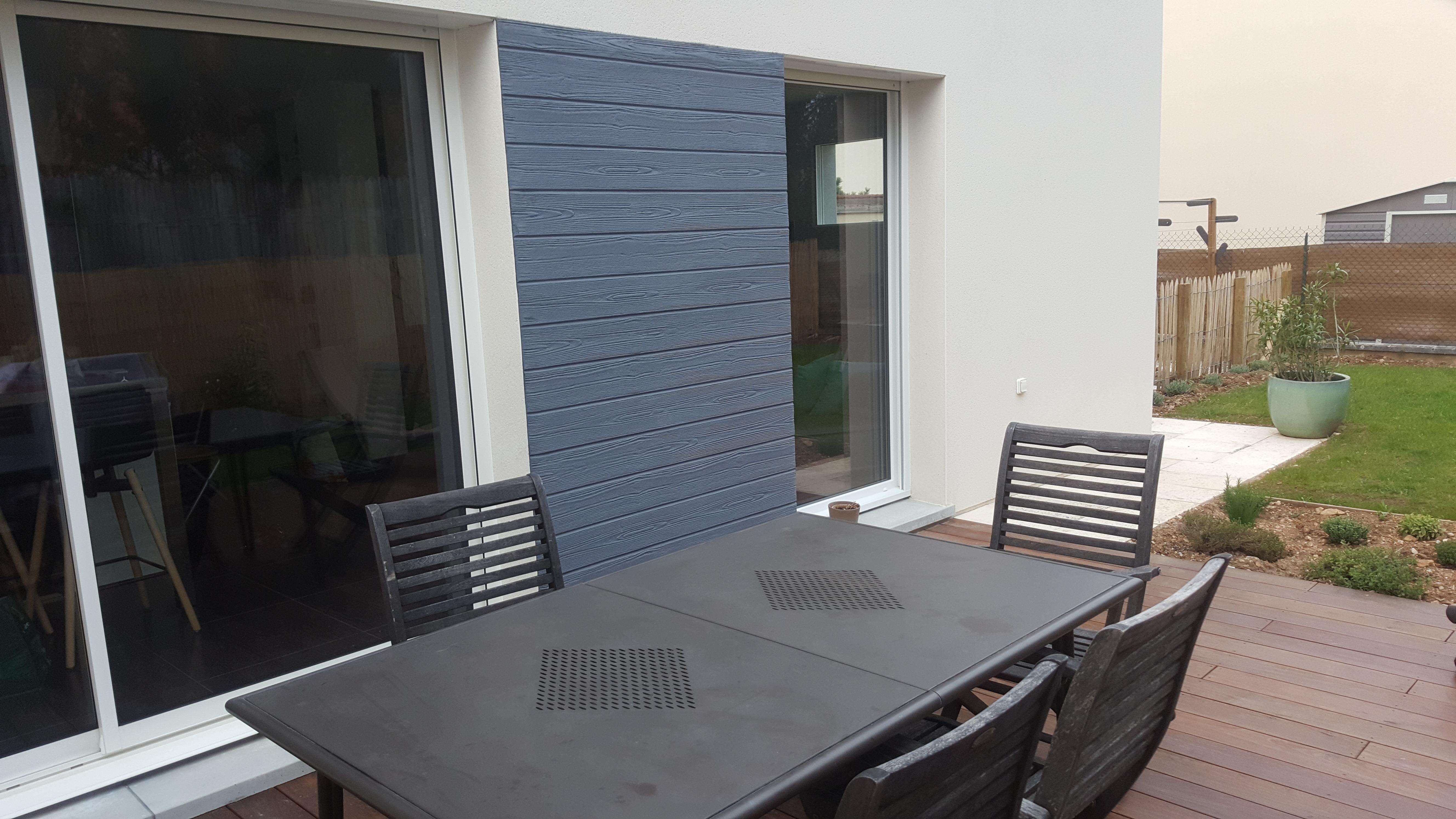 terrasse avec enduit matricé
