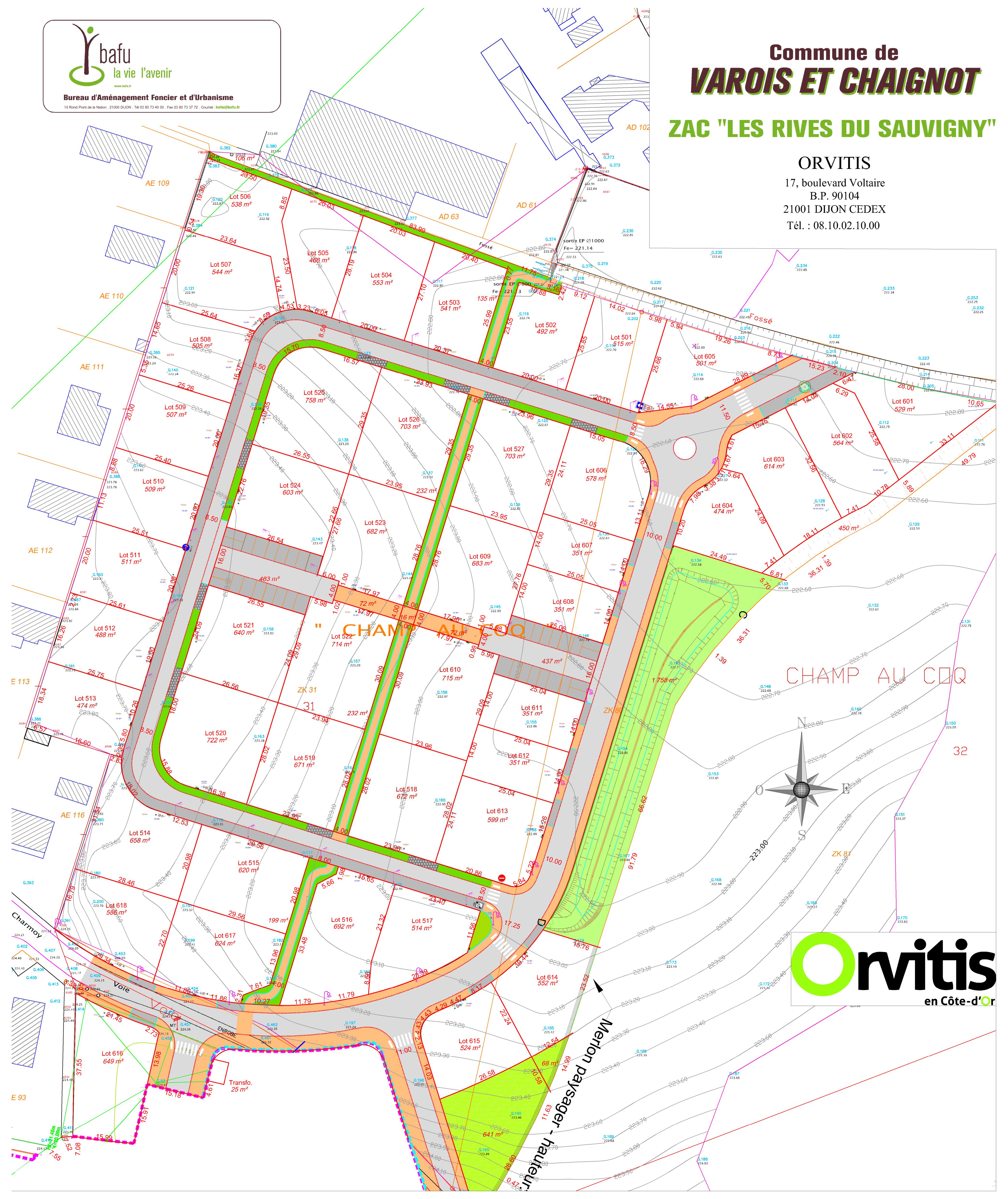 terrains constructibles à Varois-et-Chaignot