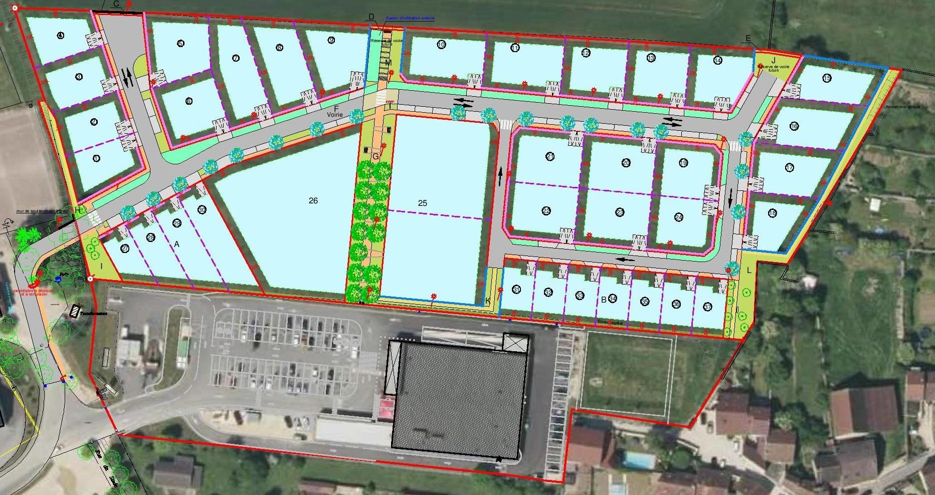 terrains à bâtir à viabilisés à Fleurey-sur-Ouche