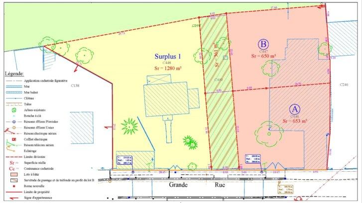 Terrain viabilisé disponible à Chambeire