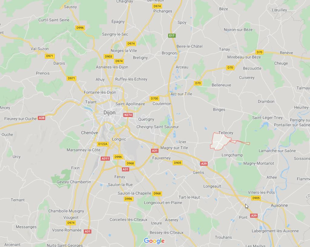 Parcelles à bâtir à Chambeire - GoogleMaps