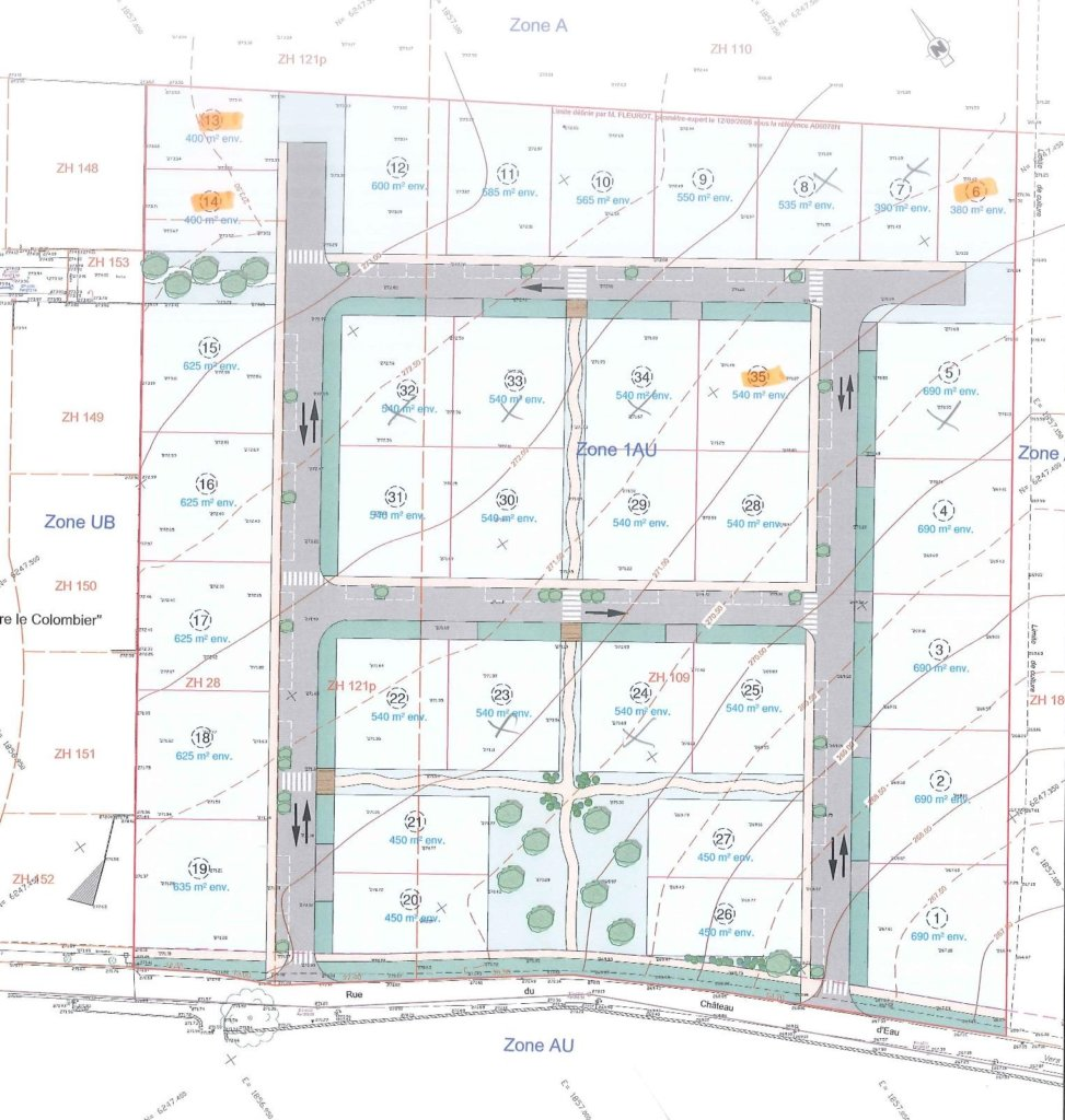 Terrains à bâtir à vendre à Terrains à vendre à Norges-la-Ville
