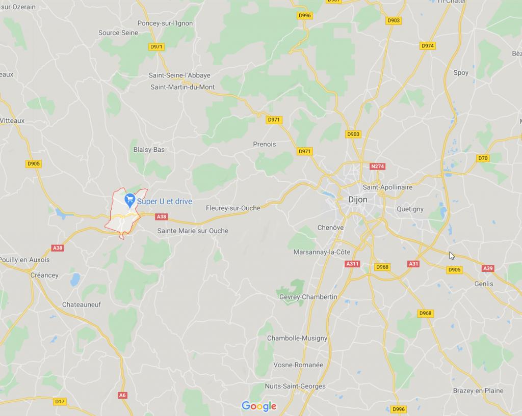 Sombernon - GoogleMaps