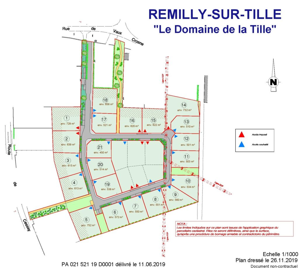 7071 - REMILLY SUR TILLE - Plan commercial