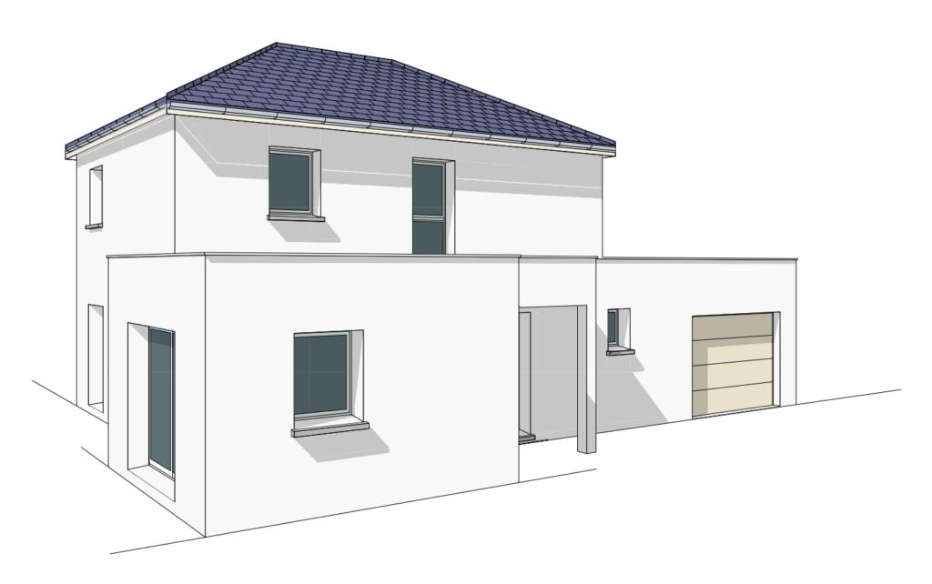 maison moderne toit plat Beaune