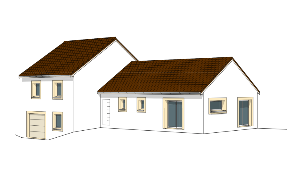Maison hors eau hors air image sur plan