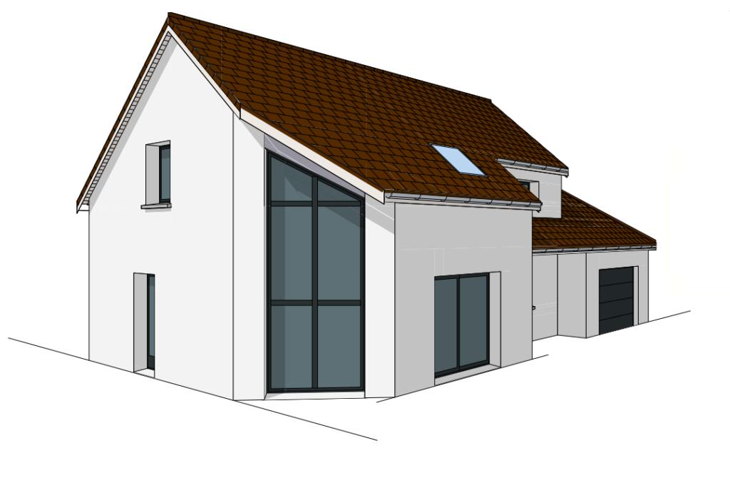 Maison moderne sur plan - Saulon