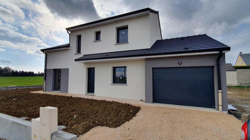maison moderne toit deux pans