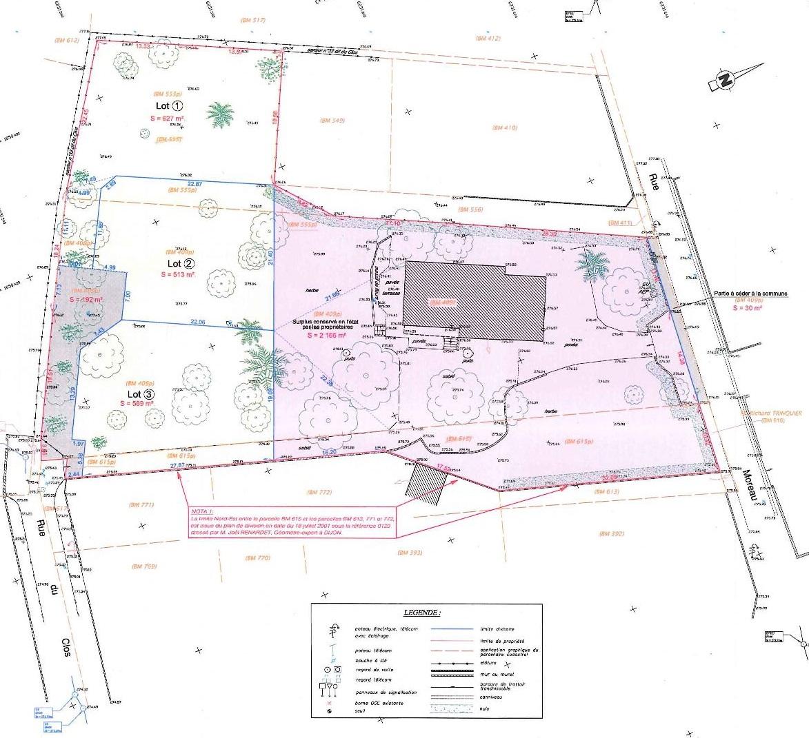 Terrain Marsannay la Cote - Plan